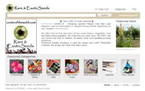 screenshot of Center Of The Webb website