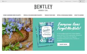 screenshot of Bentley Seed Co. website