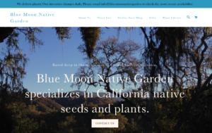screenshot of Blue Moon Native Garden website