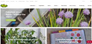 screenshot for Bonnie Plants website