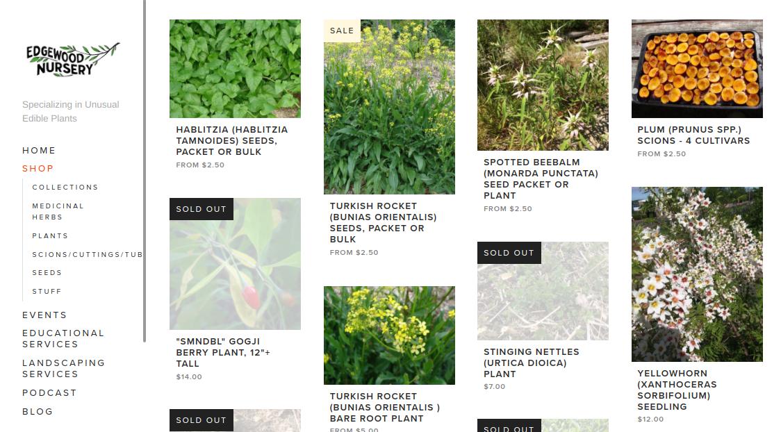 screenshot of Englewood Nursery website
