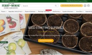 screenshot of Ferry-Morse Seeds website