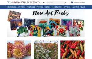 screenshot of Hudson Valley Seed Co. website