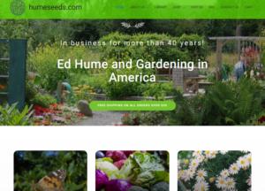 screenshot of Ed Hume Seeds website