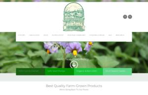 screenshot of Irish Eyes Garden Seeds website