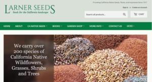 screenshot of Larner Seeds website