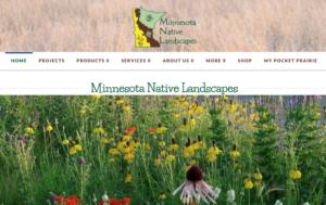 screenshot of Minnesota Native Landscapes website