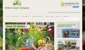 screenshot of Walters Seed Company website