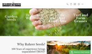 screenshot of Rohrer Seeds website