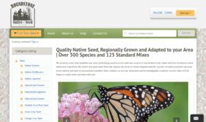 screenshot of Roundstone Native Seeds website