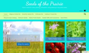 screenshot of Seeds of the Prairie website