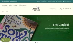 screenshot of Sow True Seed website