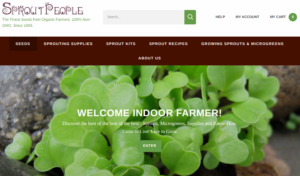 screenshot of Sprout People website