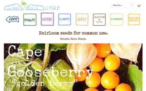 screenshot of Good Seed Company website
