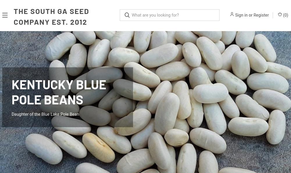 screenshot of South GA Seed Company website