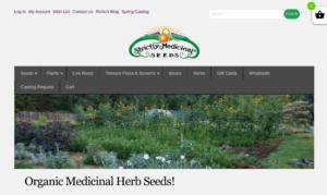 screenshot of Strictly Medicinal Seeds website