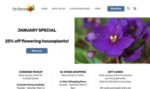 screenshot of The Plant Kingdom website