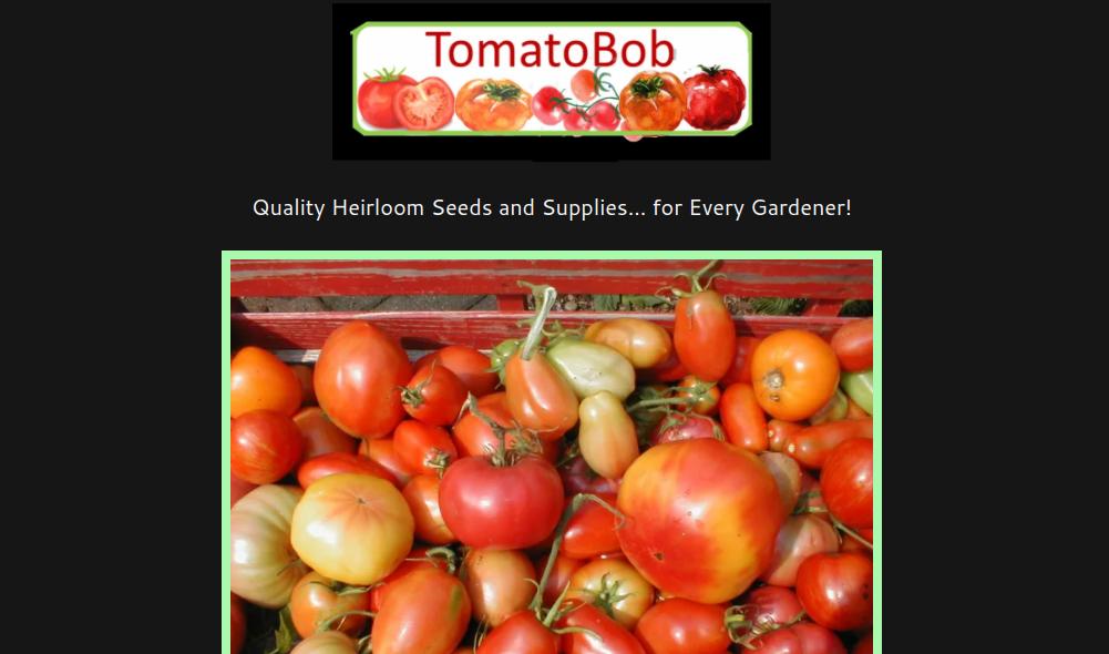 screenshot of TomatoBob website