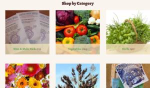 screenshot of Turtle Tree Seed website