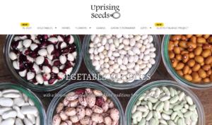 screenshot of Uprising Seeds website