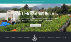 screenshot of Wild Mountain Seeds website
