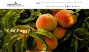 screenshot of Womack Nursery website