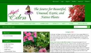 screenshot of Almost Eden website