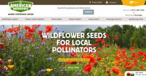 screenshot of American Meadows website