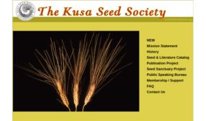 screenshot of The Kusa Seed Society website