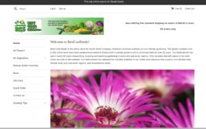 screenshot of BestCoolSeeds website
