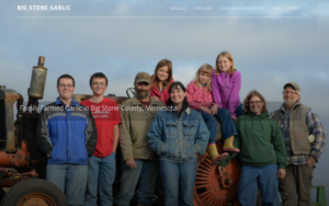 screenshot of Big Stone Garlic website
