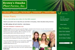 screenshot for Brown's Omaha Plant Farms website