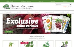 screenshot of Botanical Interests website