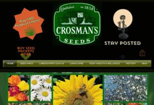 screenshot of Crosman's Famous Seeds website