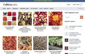 screenshot of Culitvariable website