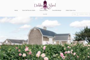 screenshot of Dahlia Shed website