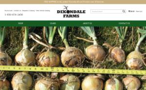 screenshot of Dixondale Farms website