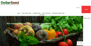 screenshot of Dollar Seed website