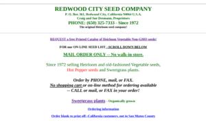 screenshot of Redwood City Seed Co. website