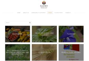 screenshot of Eloheh Seeds website
