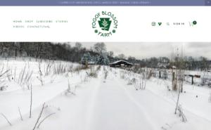 screenshot of Foggy Blossom Farm website