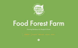 screenshot of Food Forest Farm website