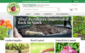 screenshot of Gardens Alive website