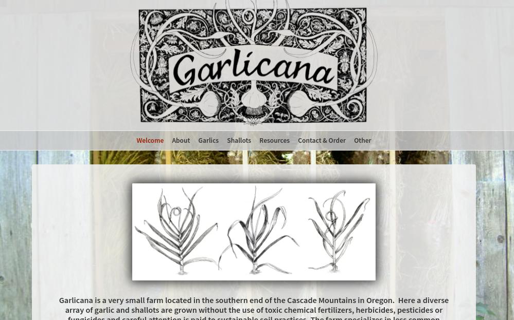 screenshot of Garlicana website