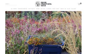 screenshot of Grand Prismatic Seed website