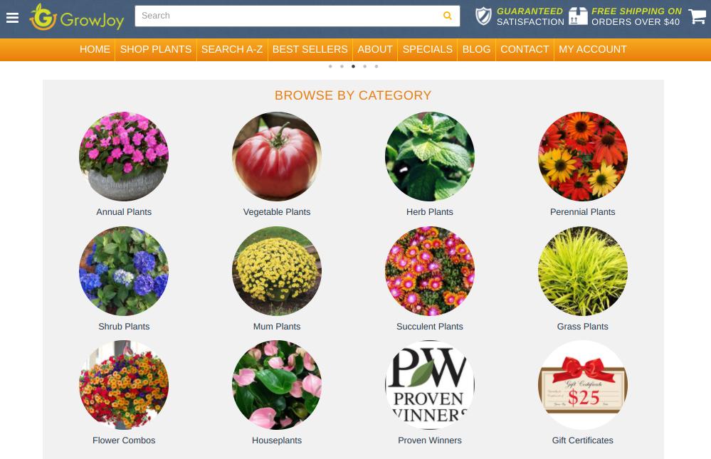 screenshot of GrowJoy website