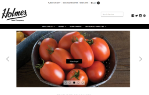 screenshot of Holmes Seed Company website