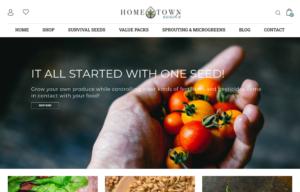 screenshot of Hometown Seeds website