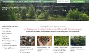 screenshot of Interwoven Permaculture Farm website