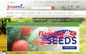 screenshot of Jung Seed Company website